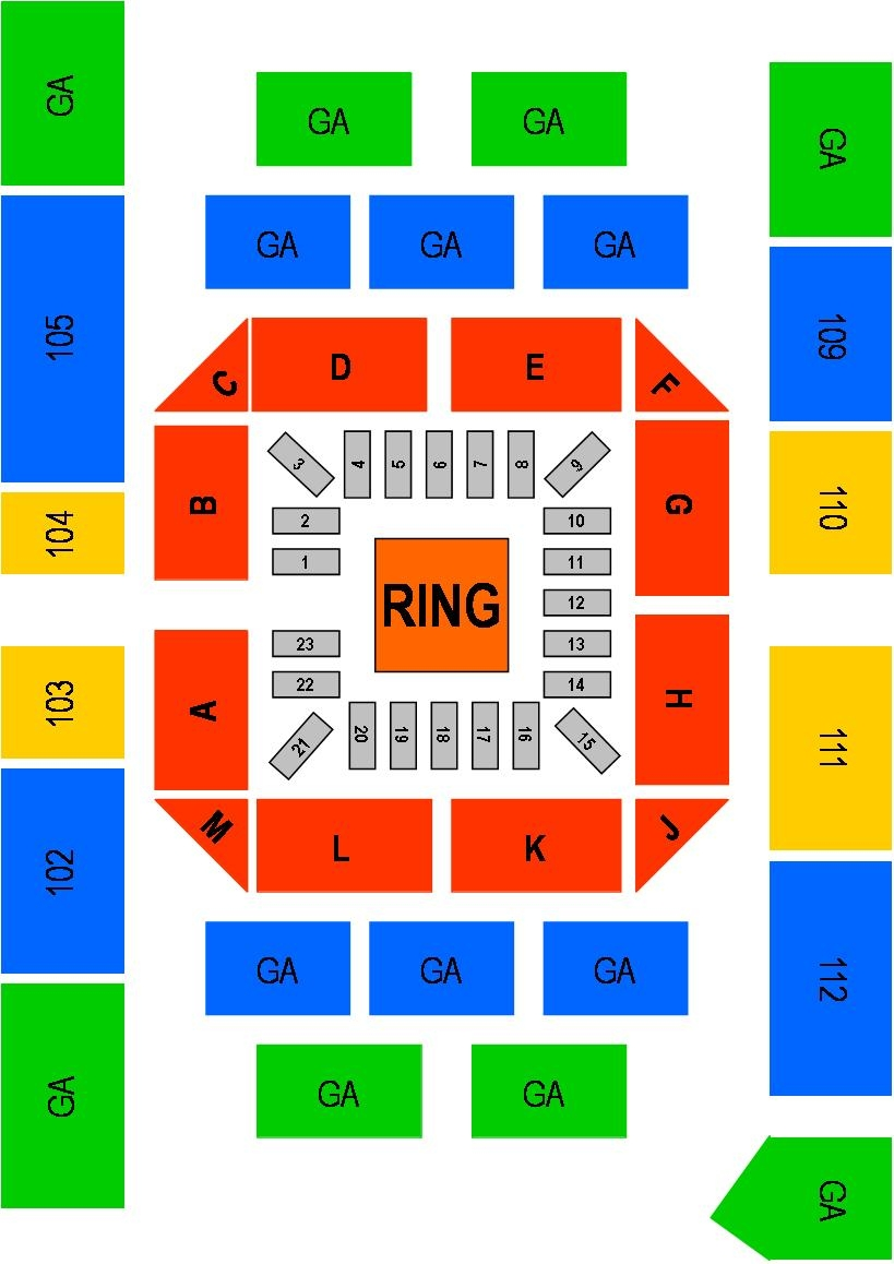 Odeum Boxing-MMA Seating Map