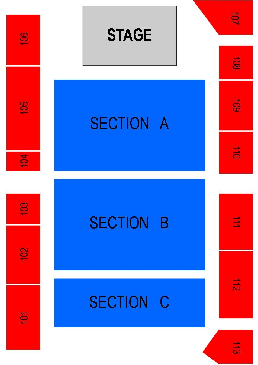 Odeum Concert Seating Map