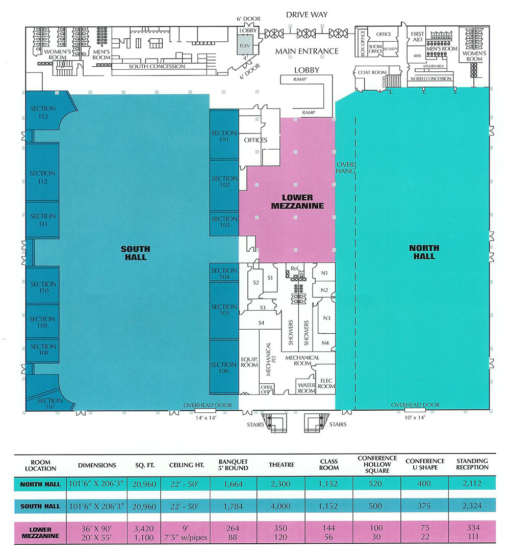 Odeum Expo Main Floor Plan