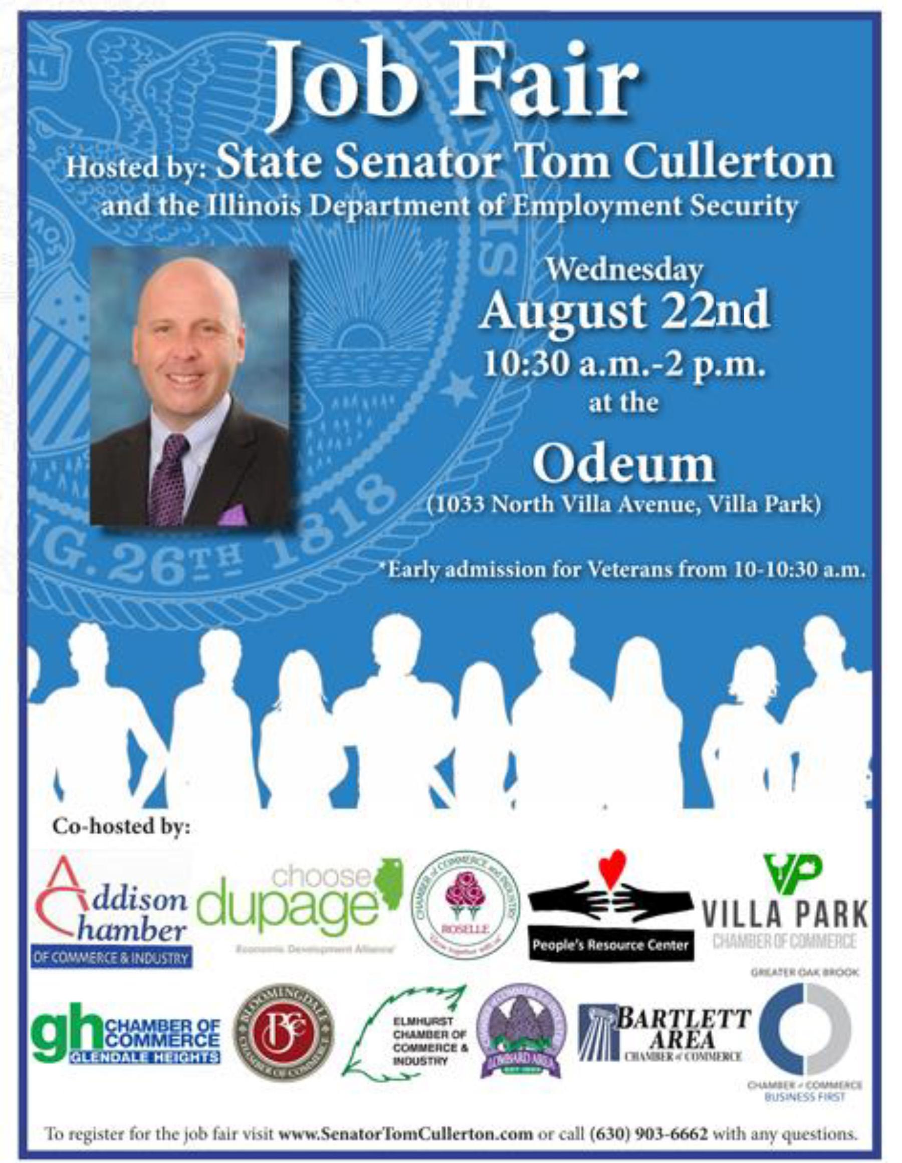 Tom Cullerton. Job Fair, Odeum Expo Center, Villa Park, IL