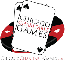 Image of Chicago Charitable Games poker ships and cards logo