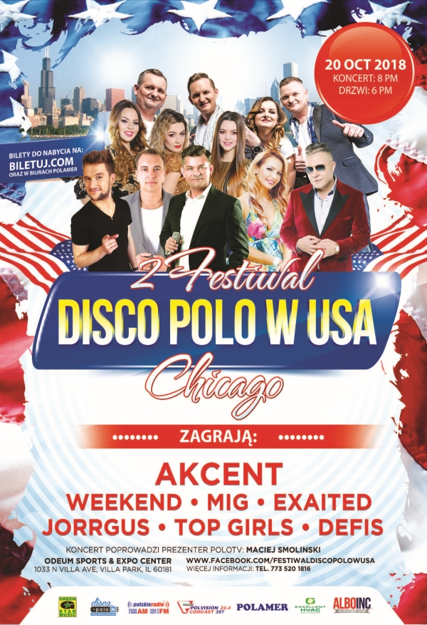 Disco Polo W USA, Odeum Expo Center, Villa Park, IL, Dance, Music