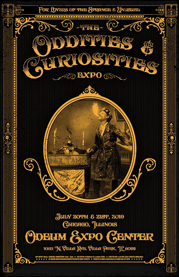 Poster for the Chicago Oddities & Curiosities Expo