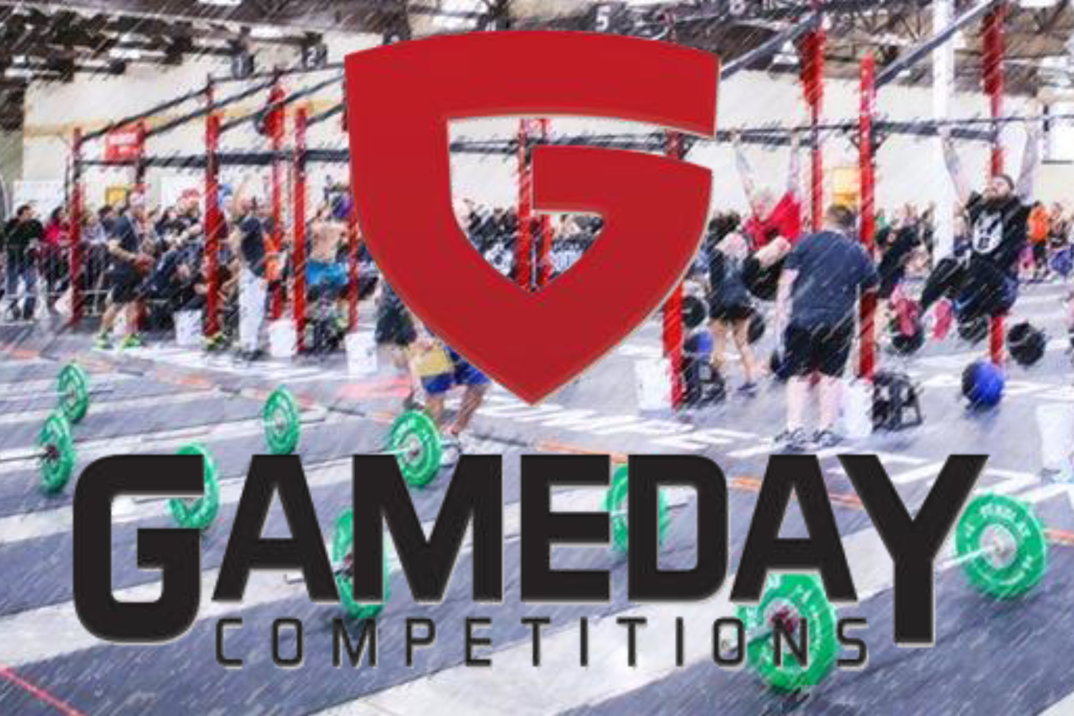 GameDay Competition logo over athletic competition