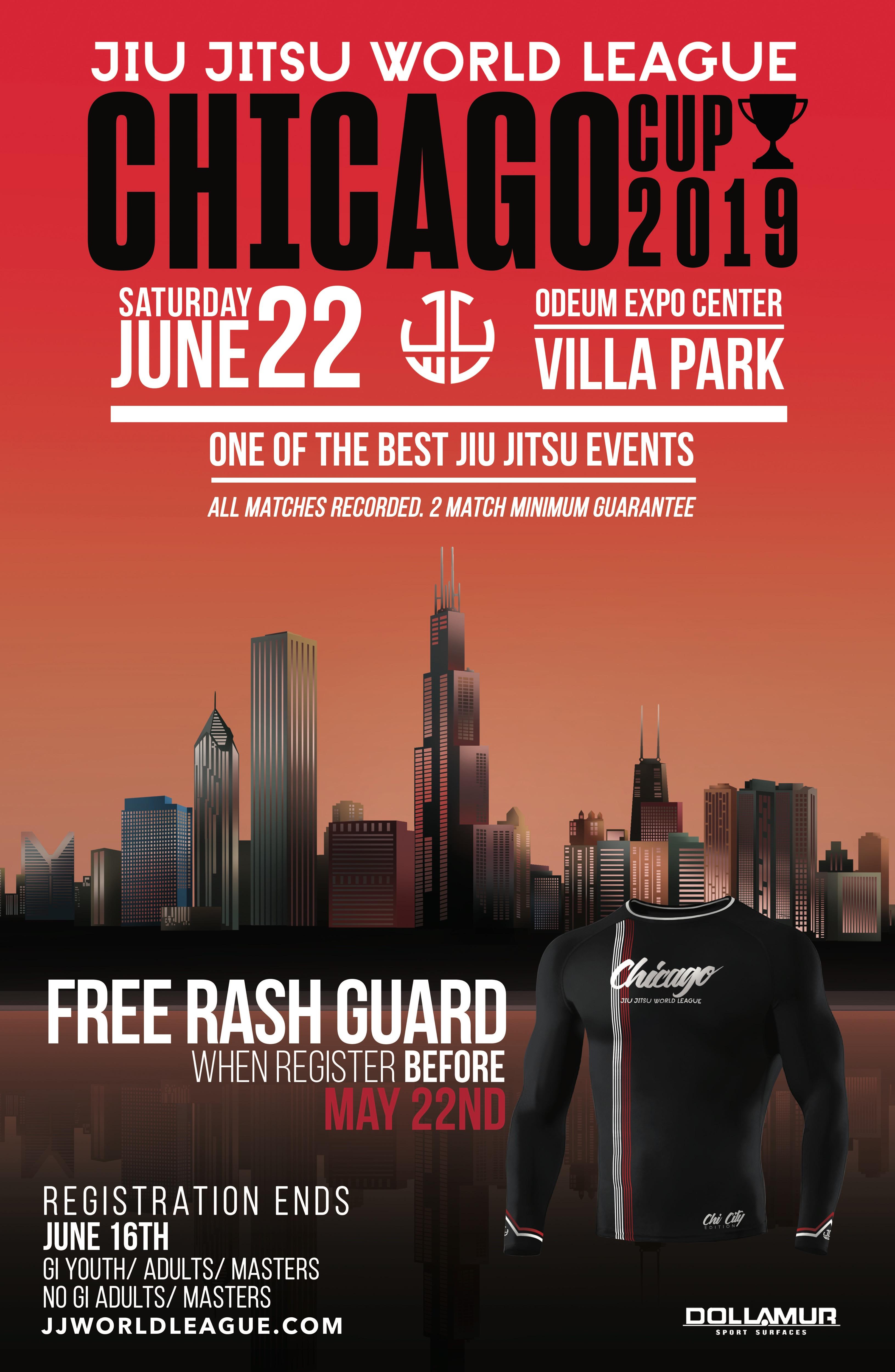 Jiu Jitsu World Poster for League Chicago June 2019