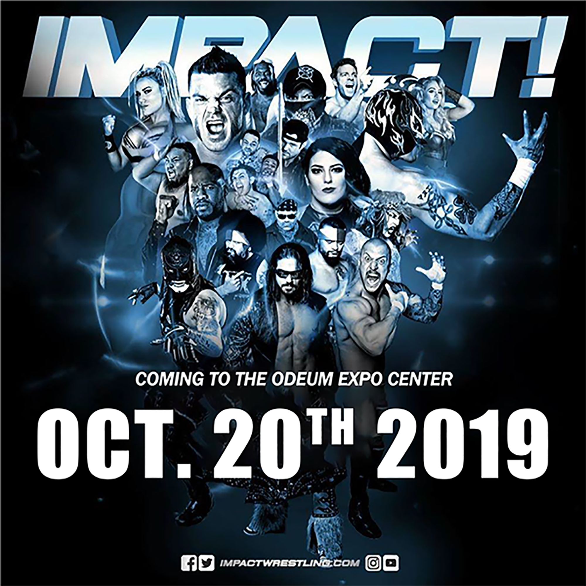 Image of Impact Wrestling wrestlers at the Odeum Expo Center October 20, 2019