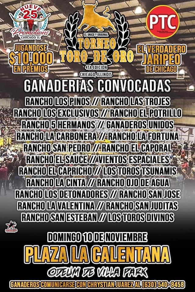 Poster for Toro de Oro Chicago 2019