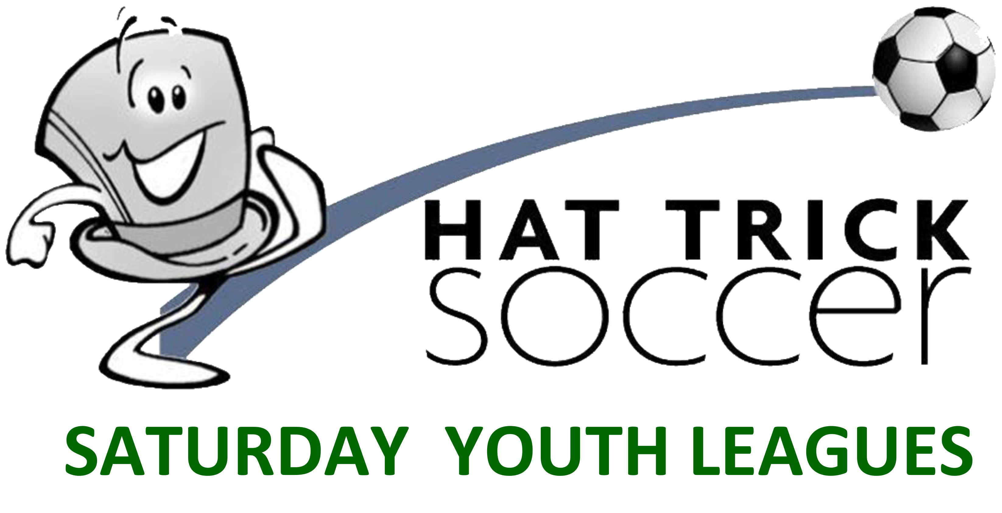 Logo for Hat Trick Soccer Saturday Youth Leagues at the Odeum Expo Center in Villa Park Illinois