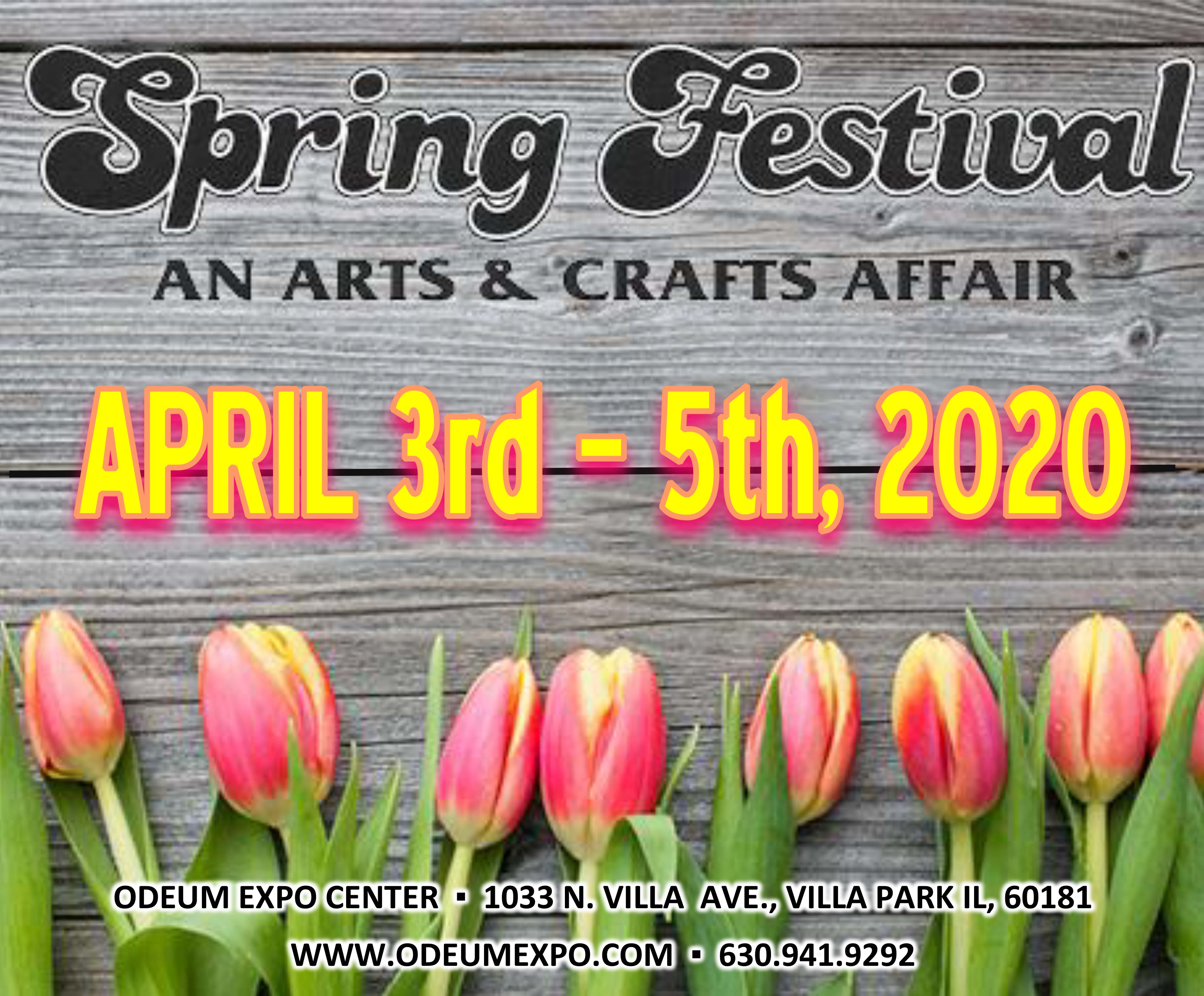 Logo for Spring Festival An Arts & Crafts Affair April 3-5, 2020 at the Odeum Expo Center in Villa Park, IL