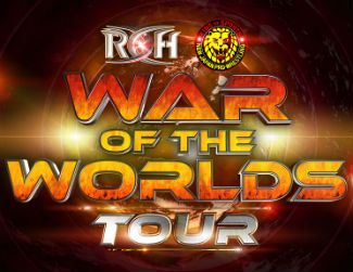 Logo of Ring of Honor War of the Worlds Tour 2020 at the Odeum Expo Center in Villa Park, Illinois