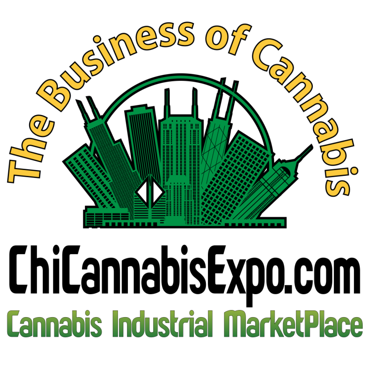 Logo for Chicago Cannabis Expo at the Odeum Expo Center
