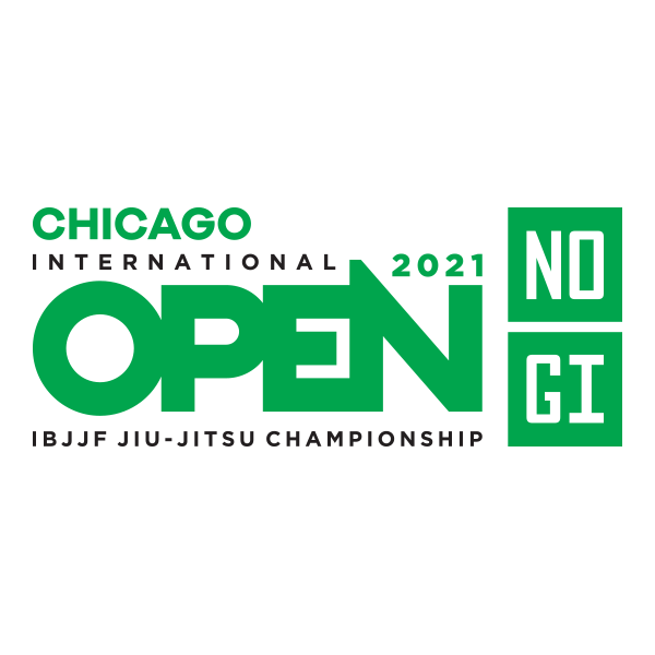 Logo for the IBJJF Chicago International Open Championship coming to the Odeum Expo Center July 2021.