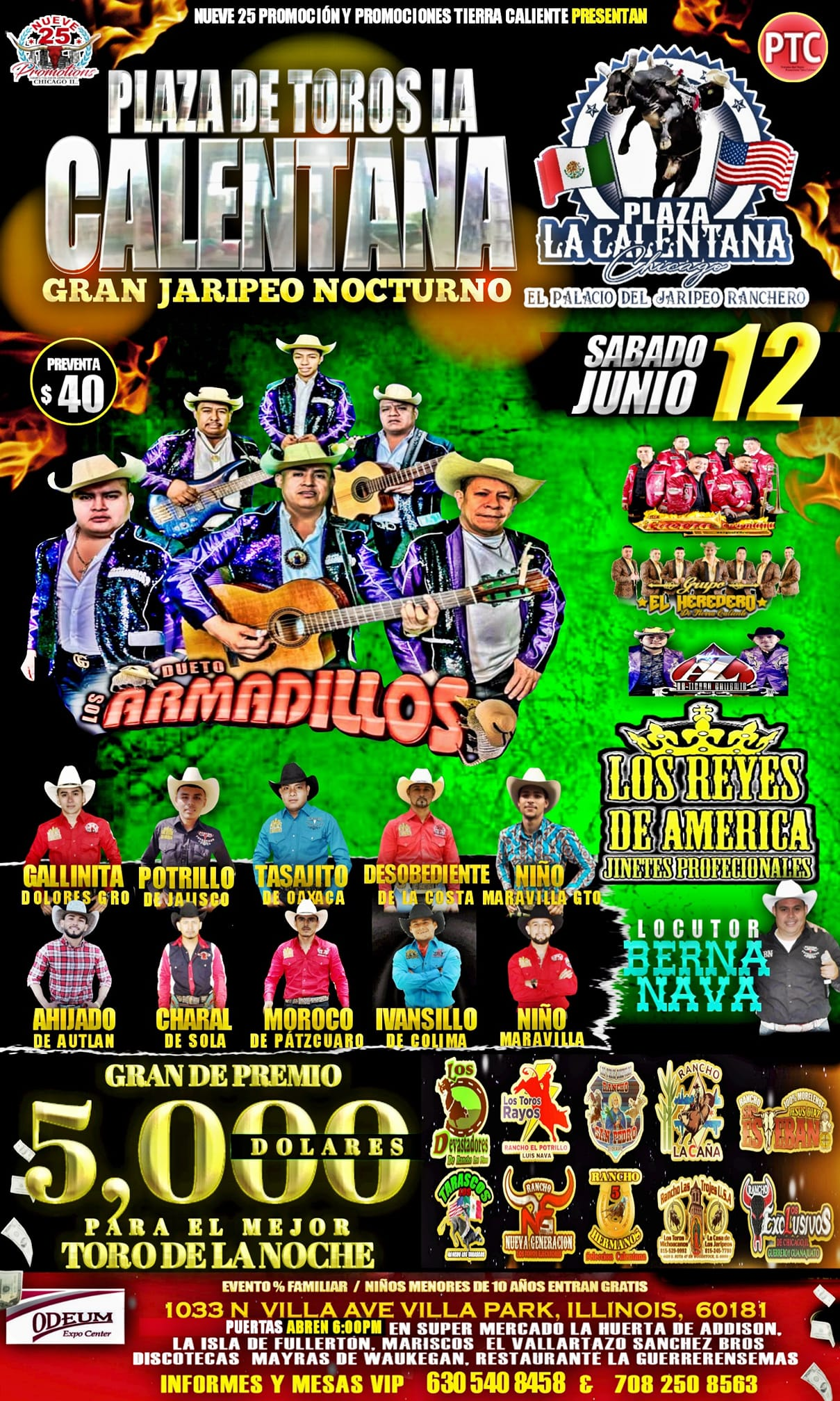 June 12 2021 Rodeo and Dance at the Odeum Expo Center in Villa Park, Illinois